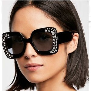 Free People Feel the Groove Embellished Sunglasses